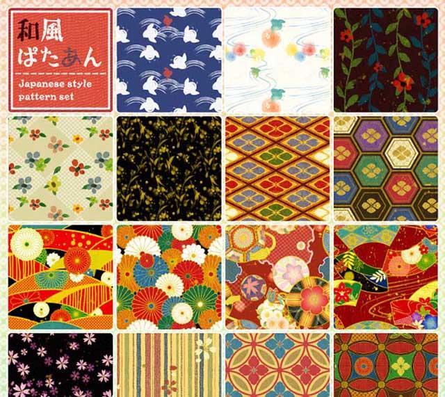 無料和風素材:伝統文様和紙素材