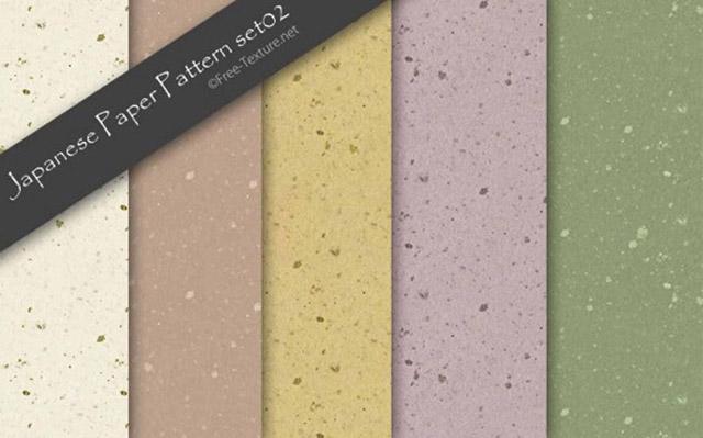 無料和風素材:フリーテクスチャ素材館/手漉き和紙のパターンテクスチャ素材5色(PHOTO)