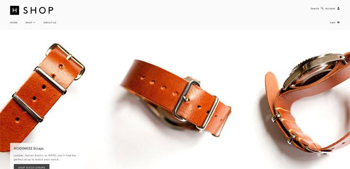 ECサイトデザインの参考にできる秀逸なデザインサイト - 腕時計アクセサリーショップ HODINKEE