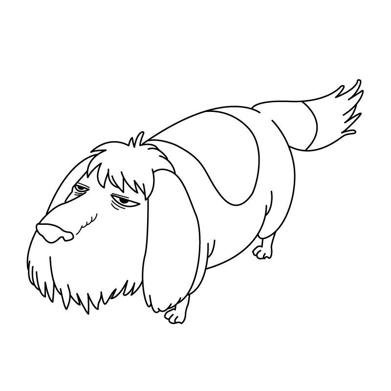 ハウルの動く城のキャラクターをパスで描いてみた - ヒン