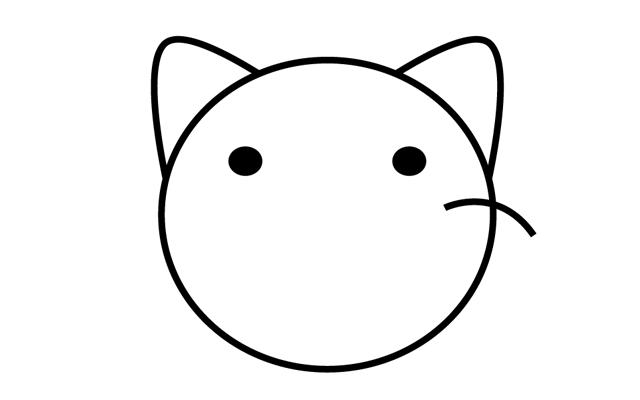 3.顔のパーツ(目・ひげ)を作る その2