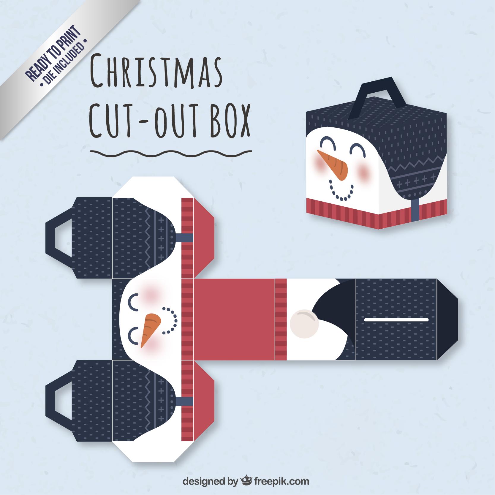 雪ダルマの可愛いオリジナルギフトボックス