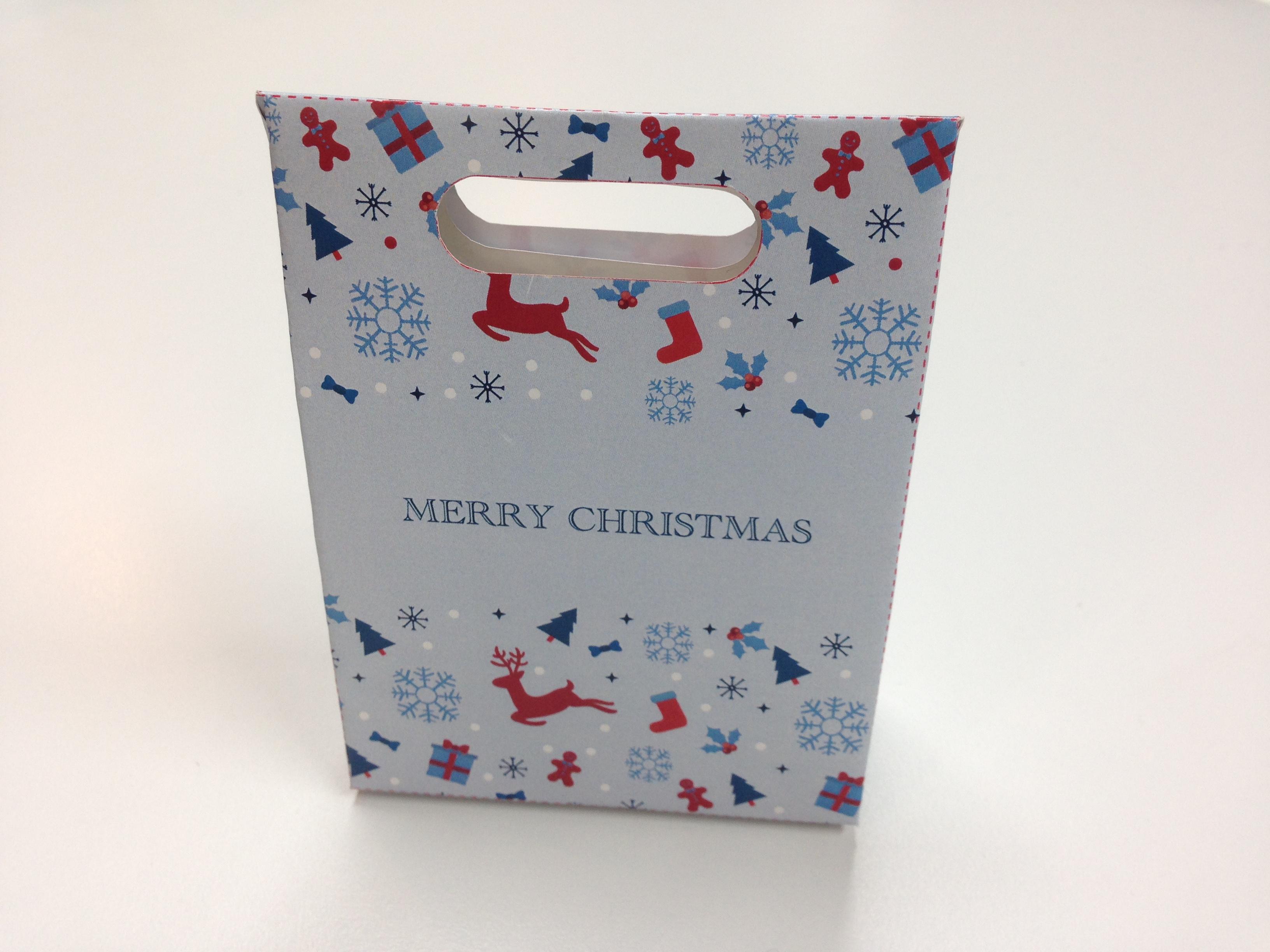 オリジナルクリスマスギフトボックスのテンプレート素材2