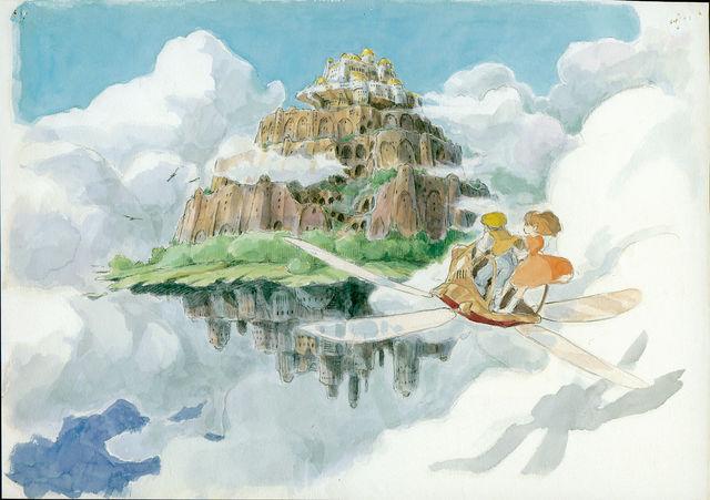 天空の城ラピュタの名シーンをパスで描いてみた 大阪南森町の