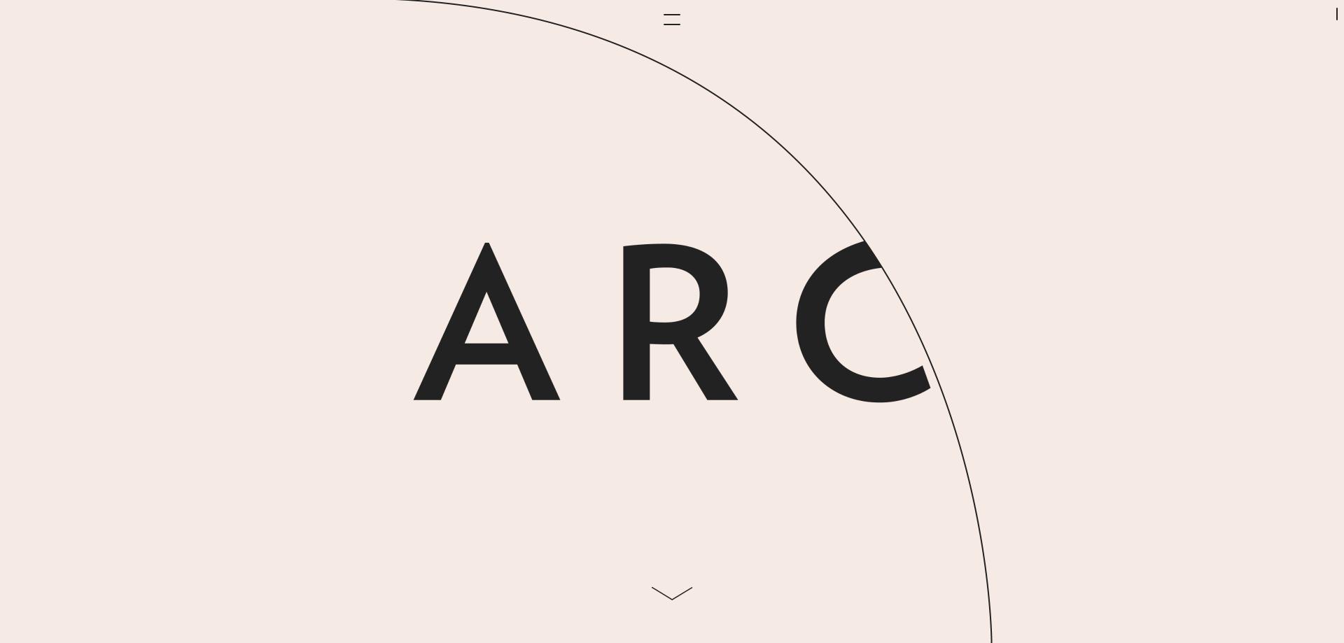 ミニマルデザインホームページ - ARC