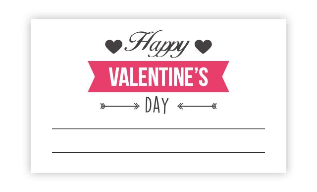 バレンタインロゴが可愛いメッセージカード