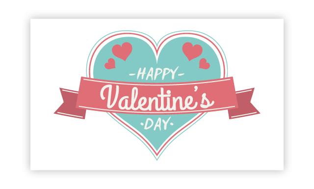 青いバレンタインも可愛いよね!裏面にメッセージをどうぞ