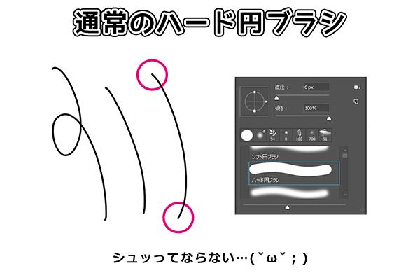ペン入れ・線画に使えるブラシの設定方法