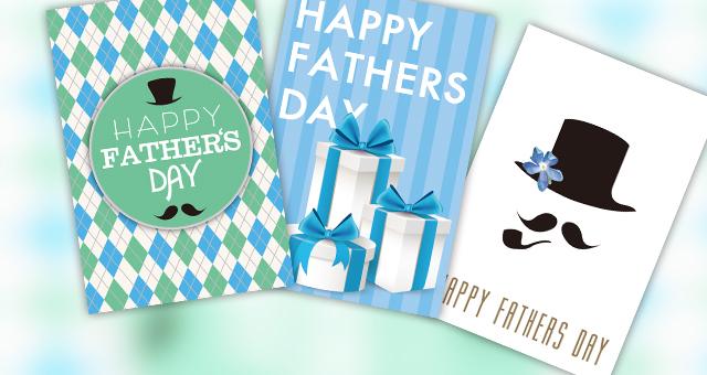 父の日のプレゼントに添えたいメッセージカードデザインしてみた