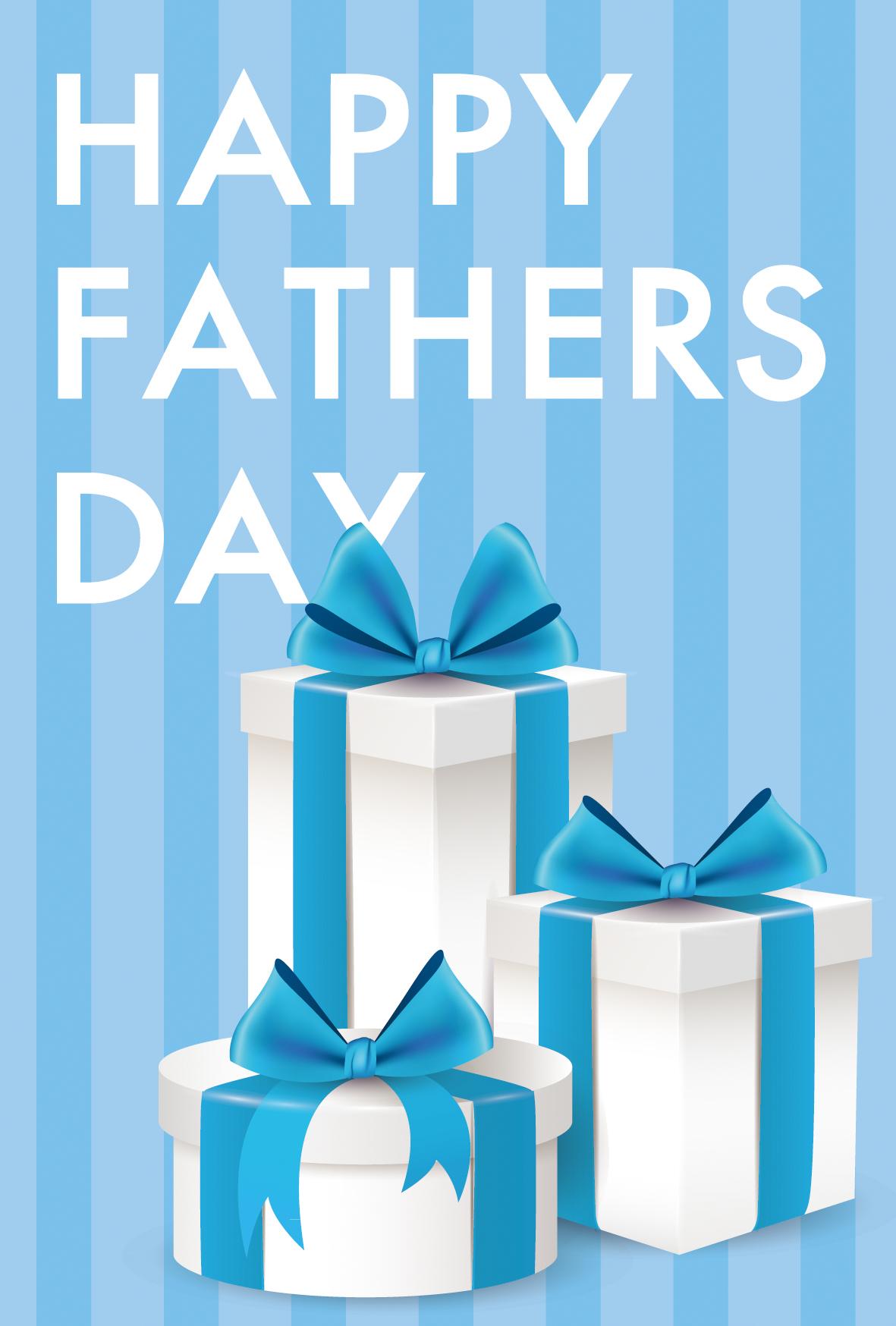 ンプルかつフェミニンなプレゼント柄父の日用メッセージカード