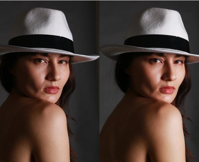 photoshopを使って美肌・美顔補正やってみた4
