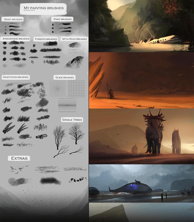 My Painting Brushes Concept Art Speedpainting